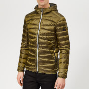 Superdry Men's Clarendon Down Hooded Jacket - Bright Khaki