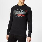 Superdry Men's Vintage Logo 1st Duo Long Sleeve T-Shirt - Black