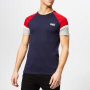 Superdry Men's Orange Label Engineered Sleeve Baseball T-Shirt - Beach Navy