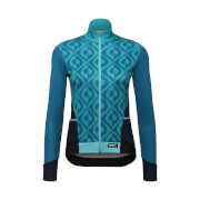 Santini Women's Coral Long Sleeve Jersey - Aqua Blue