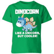 Big And Beautiful Dinocorn Kids' T-Shirt - Kelly Green