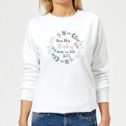 Big and Beautiful Does This Baby Women's Sweatshirt - White