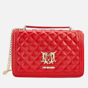 Love Moschino Women's Quilted Shoulder Bag - Red