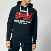 Superdry Men's Sweatshirt Shop Duo Hoody - Eclipse Navy
