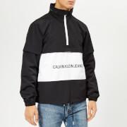 Calvin Klein Jeans Men's Institutional Logo Pop Over Jacket - Black/White