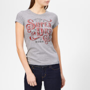 Superdry Women's Frontier Script Studded Entry T-Shirt - Grey Marl