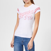 Superdry Women's Retro 75 Entry T-Shirt - Optic Snowy