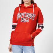 Superdry Women's Playoff Hoodie - Centre Back Red