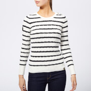 Superdry Women's Croyde Bay Cable Knit Jumper - Cream/Navy Stripe