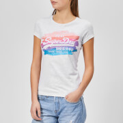 Superdry Women's Vintage Logo Painted Rainbow Entry T-Shirt - Ice Marl