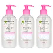 Garnier Micellar Gel Face Wash 200ml (3 Pack)