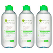 Garnier Micellar Water Facial Cleanser Combination Skin 400ml (3 Pack)