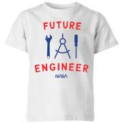 NASA Space Cadets Future Engineer Kids' T-Shirt - White