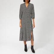 Whistles Women's Confetti Heart Helena Midi Dress - Black/Multi