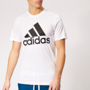 adidas Men's Must Haves Badge of Sport Short Sleeve T-Shirt - White/Black