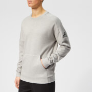 adidas Men's ID Stadium Crew Neck Sweatshirt - Grey Heather