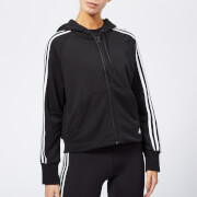adidas Women's Must Haves 3 Stripes Full Zip Hoody - Black