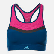 adidas Women's Don't Rest Swim Crop Top - Blue/Pink