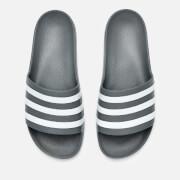 adidas Men's Adilette Aqua Slide Sandals - Grey Three