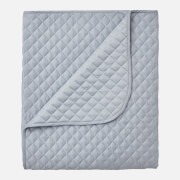 in homeware Diamond Quilted Throw Blanket - Silver