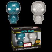Marvel Iron Man Blue and Silver Hikari XS Vinyl Figure 2 Pack