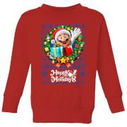 Nintendo Super Mario Happy Holidays Mario Kid's Christmas Sweatshirt - Red