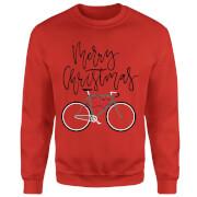 Bike Lights Christmas Sweatshirt - Red