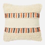 in homeware Textured Cushion - Orange and Grey