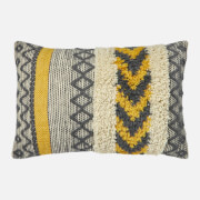 in homeware Textured Cushion - Yellow and Grey