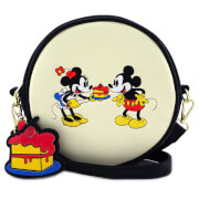 Loungefly Disney Mickey Mouse Mickey and Minnie Cake Cross Body Bag