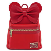 Mini Mochilla Con Orejas - Disney Loungefly - Minnie Mouse - Rojo