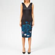 Ted Baker Women's Dinina Wonderland Bow Bodycon Dress - Dark Blue