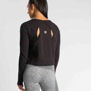 S - IdealFit Pro Tech Crew Sweatshirt - Black