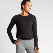 IdealFit Pro Tech Crew Sweatshirt - Black