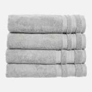 in homeware Supersoft 100% Cotton 4 Piece Towel Bale - Silver