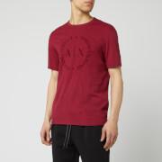 Armani Exchange Men's Round Script Logo T-Shirt - Biking Red