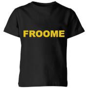 Summit Finish Froome - Rider Name Kids' T-Shirt - Black