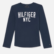 Tommy Hilfiger Boys' Essential Logo Long Sleeve T-Shirt - Black Iris