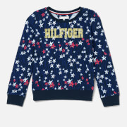 Tommy Hilfiger Girls' Flowing Stars Sweatshirt - Black Iris/Multi