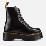 Dr. Martens Jadon Polished Smooth Leather 8-Eye Boots - Black