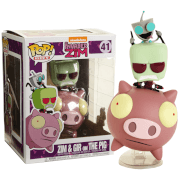 Invader Zim Zim & Gir on The Pig EXC Pop! Ride Figure