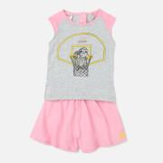 adidas Girls' Animal T-Shirt Set - Grey