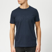 BOSS Men's Basic Large Brand Chest T-Shirt - Navy