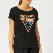 Reebok Women's Crossfit Neon Retro Easy Short Sleeve T-Shirt - Black