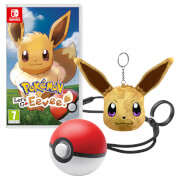 Pokemon: Let's Go, Eevee! + Poké Ball Plus + Eevee Keyring