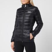Emporio Armani EA7 Women's Train Core Lady Light Down Packable Jacket - Black