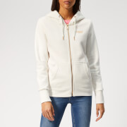 Superdry Women's Orange Label Elite Zip Hoody - Rodeo White