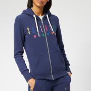 Superdry Women's Carly Carnival Emb Zip Hoody - Dazzling Blue