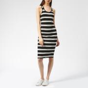 Superdry Women's Mila Stripe Midi Dress - Mono Text Stripe