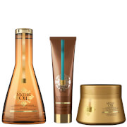L'Oréal Professionnel Mythic Oil Shampoo, Masque and Oil Crème Universelle Trio for Fine Hair